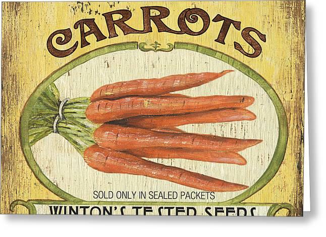 Veggie Seed Pack 4 Greeting Card by Debbie DeWitt