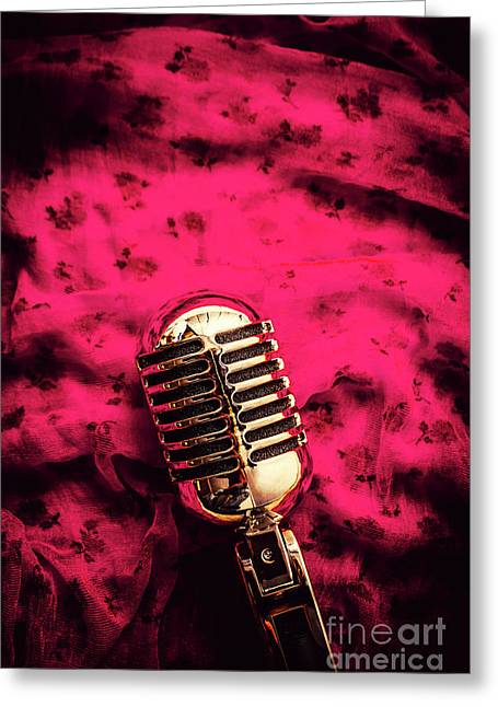 Velvet Jazz Show Greeting Card by Jorgo Photography - Wall Art Gallery
