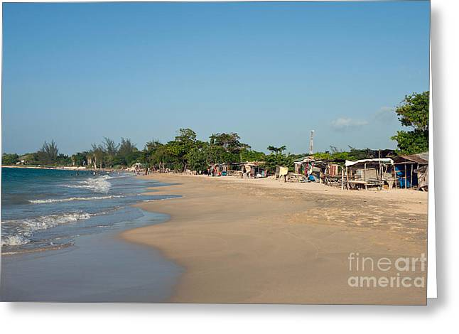 Female Body Greeting Cards - Vendors on Beach at Runaway Bay Jamaica Greeting Card by Jason O Watson