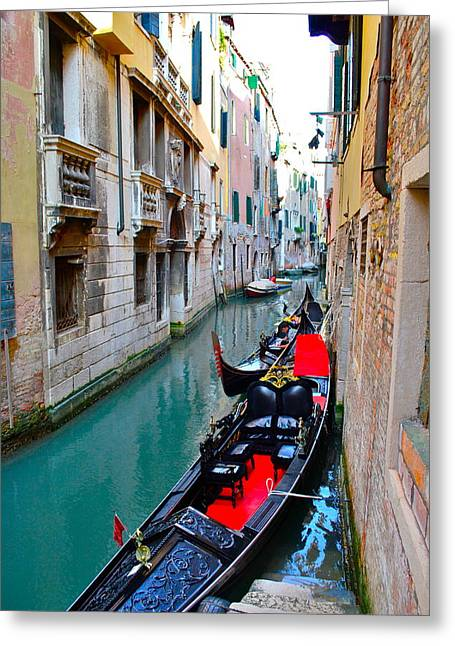 Venetian Canals Greeting Cards - Venetian Canal Greeting Card by Dorota Nowak