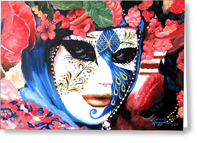 Leonardo Ruggieri Greeting Cards - venetian carnevale mask III Greeting Card by Leonardo Ruggieri