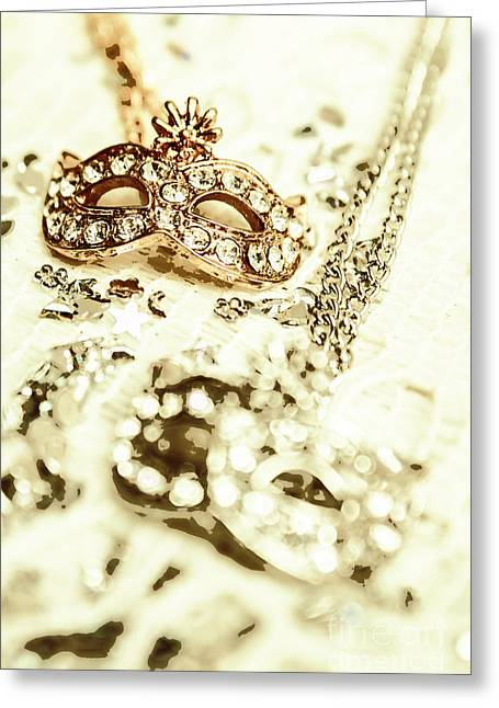 Venetian Crystal Style Greeting Card by Jorgo Photography - Wall Art Gallery