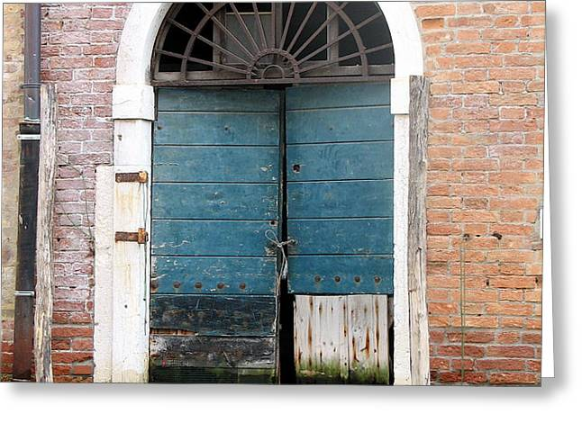 Venetian door Greeting Card by ITALIAN ART