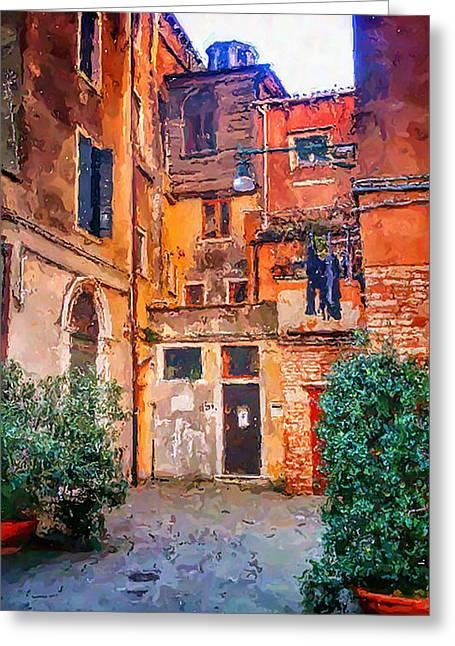 Venetian Ghetto Greeting Card by Patrizia Fazzari