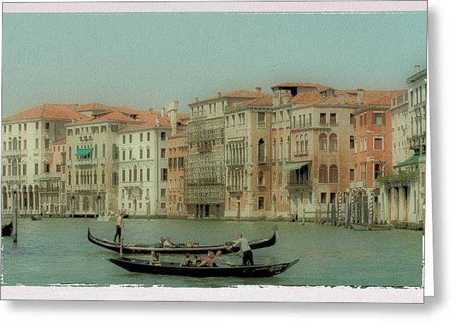 Transfer Greeting Cards - Venetian Highway Greeting Card by Lynn Andrews
