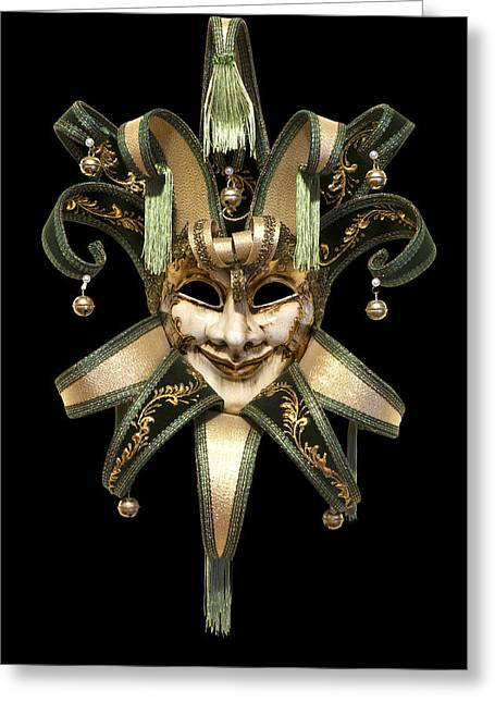 Cut Out Greeting Cards - Venetian mask Greeting Card by Fabrizio Troiani