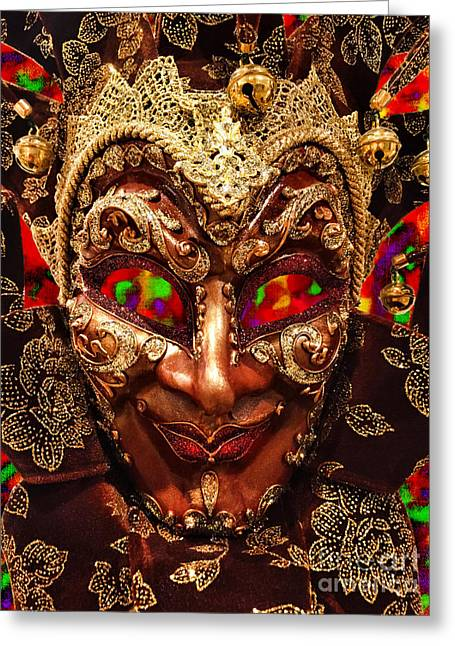 Festivities Greeting Cards - Venetian Mask  Greeting Card by Mariola Bitner