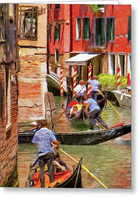 Venetian Red Greeting Card by Jeff Kolker