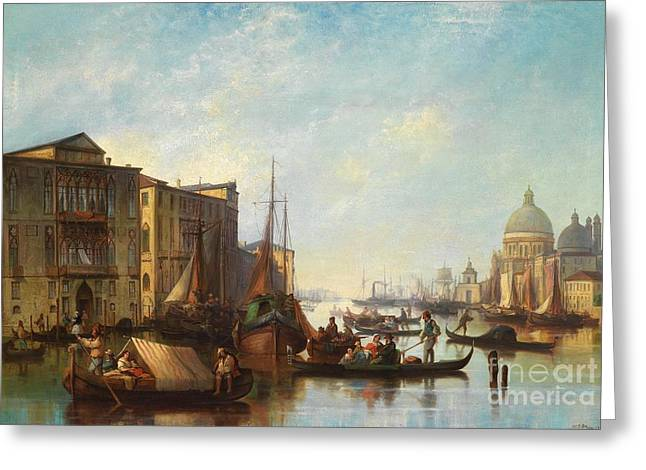 Josef Greeting Cards - Venetian Scene Greeting Card by Celestial Images