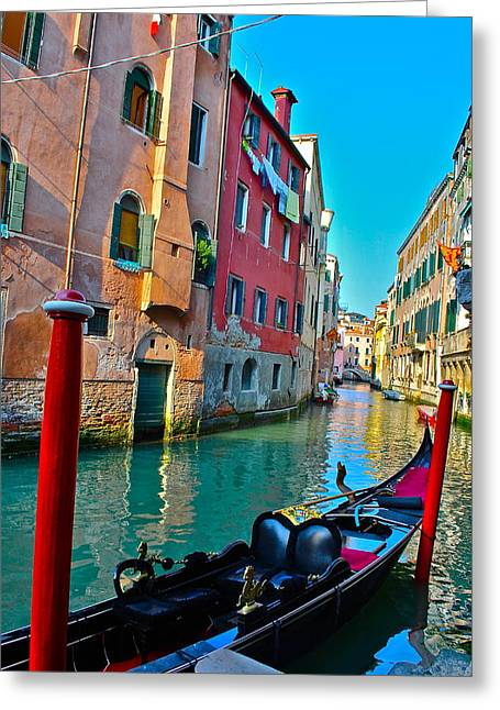 Venetian Canals Greeting Cards - Venetian Street Greeting Card by Dorota Nowak