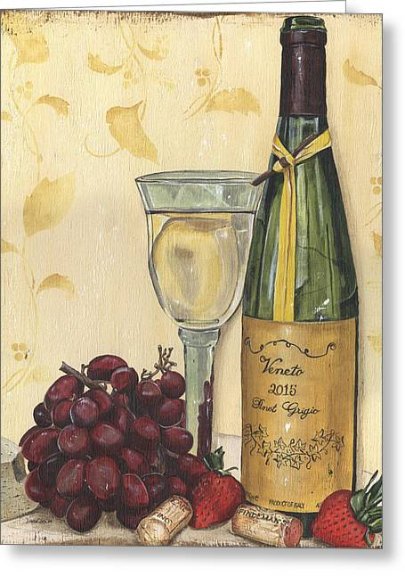 Veneto Pinot Grigio Greeting Card by Debbie DeWitt