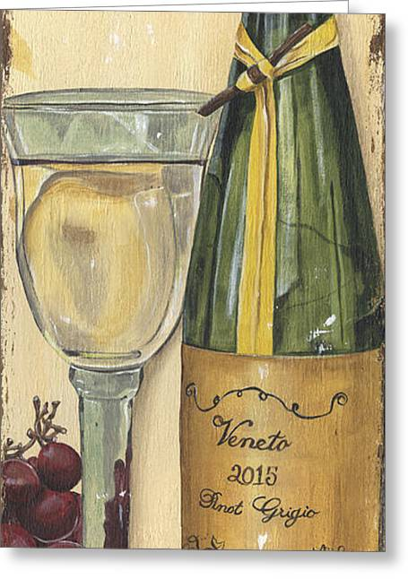 Veneto Pinot Grigio Panel Greeting Card by Debbie DeWitt