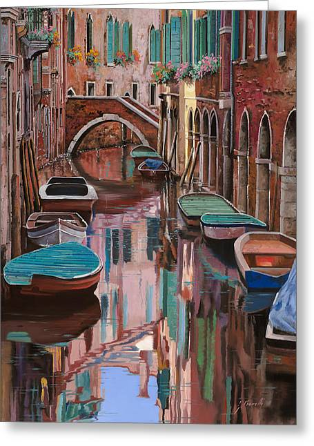 Noon Greeting Cards - Venezia a colori Greeting Card by Guido Borelli