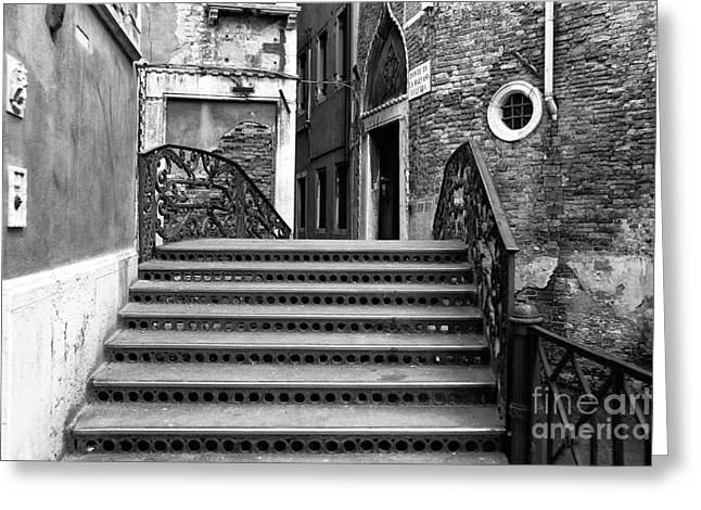 Stone Steps Greeting Cards - Venezia Architecture Greeting Card by John Rizzuto