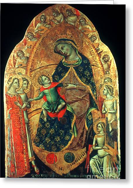 Veneziano: St. Catherine Greeting Card by Granger