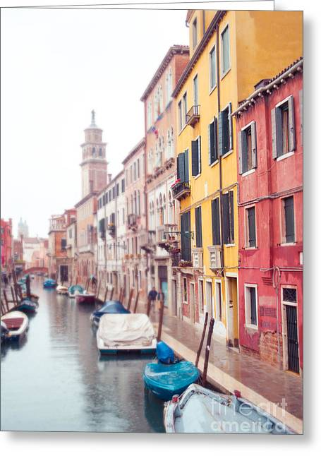 Venice Afternoon Greeting Card by Sonja Quintero