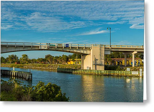 Venice Avenue Liftbridge Over Gulf Greeting Card by Panoramic Images