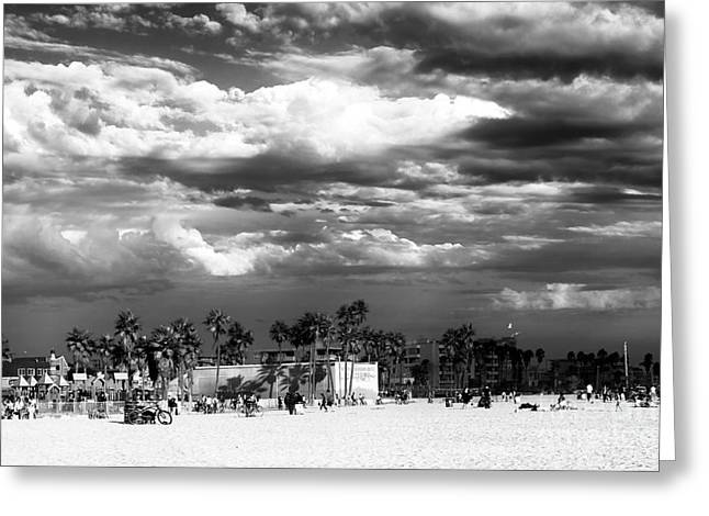 Venice Beach Day Greeting Card by John Rizzuto