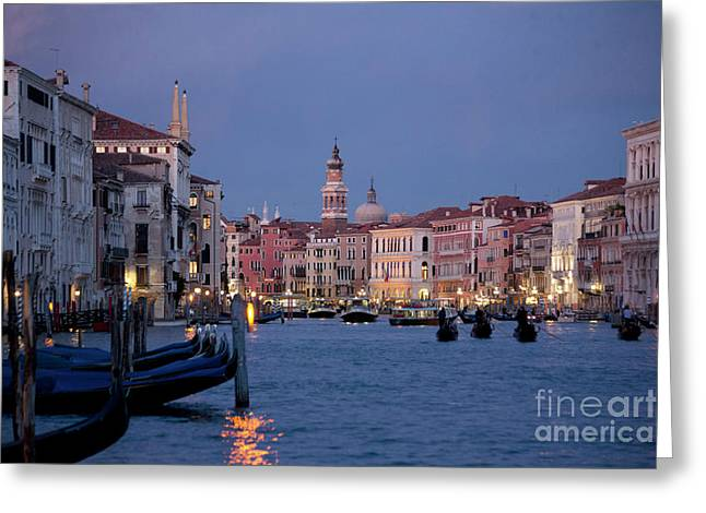 Heiko Koehrer-wagner Greeting Cards - Venice Blue Hour 2 Greeting Card by Heiko Koehrer-Wagner