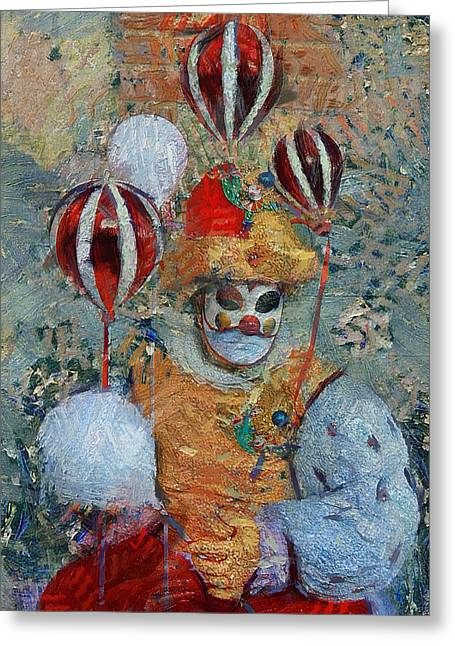 Gondolier Greeting Cards - Venice Carnival 3 Greeting Card by Yury Malkov