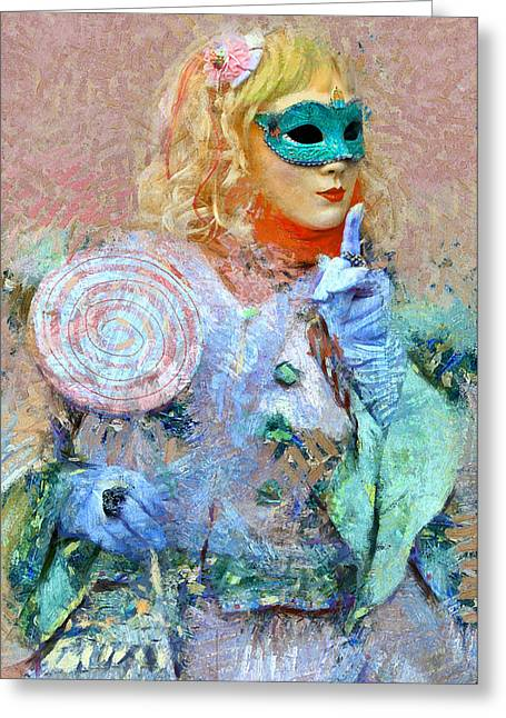 Gondolier Greeting Cards - Venice Carnival 9 Greeting Card by Yury Malkov