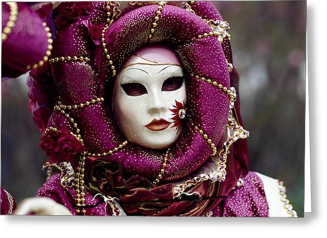 Portraiture Pyrography Greeting Cards - Venice Carnival  Greeting Card by Cyril Jayant