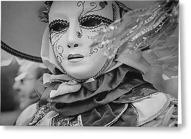 Portraiture Pyrography Greeting Cards - Venice carnival portraits  Greeting Card by Cyril Jayant