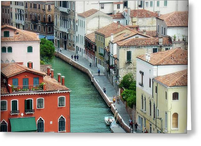 Venice City of Canals Greeting Card by Julie Palencia