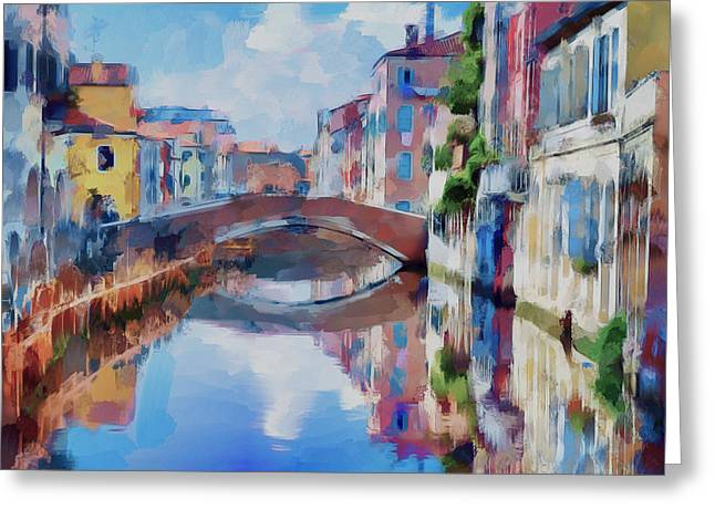 Gondolier Greeting Cards - Venice Fantasy Greeting Card by Yury Malkov