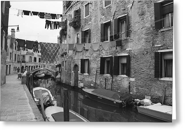 Old House Photographs Greeting Cards - Venice Greeting Card by Frank Tschakert