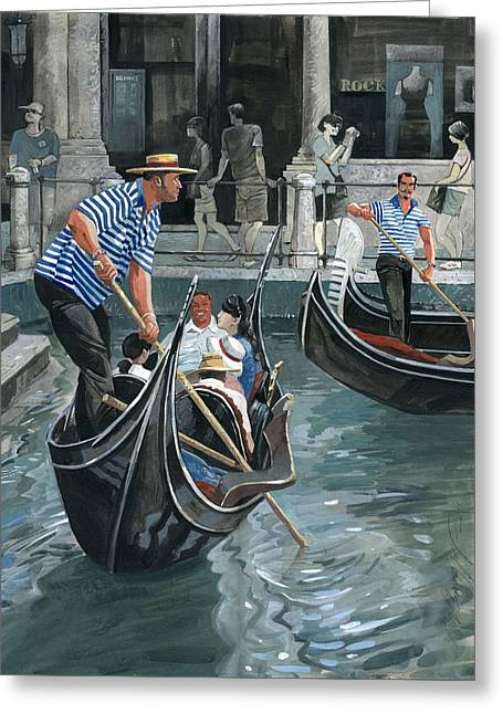 City Art Greeting Cards - Venice. Il Bacino Orseolo Greeting Card by Igor Sakurov