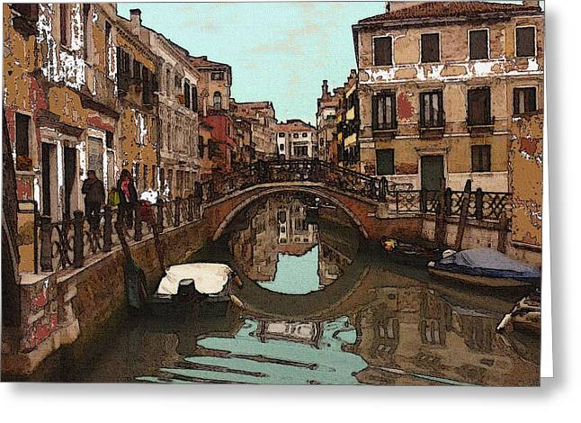 Venice Impression 14 - Oil Greeting Card by Art America Online Gallery