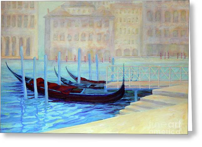 Europe Greeting Cards - Venice In Mist Greeting Card by Sharon Nelson-Bianco