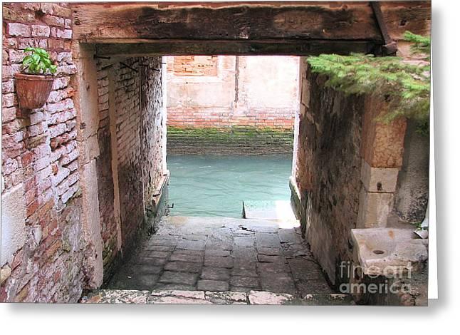 Chianti Greeting Cards - Venice- Italy-Garage Greeting Card by Italian Art