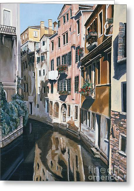 City Scapes Framed Prints Greeting Cards - Venice  Greeting Card by Jiji Lee