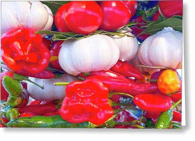 Venice market goodies Greeting Card by Heiko Koehrer-Wagner