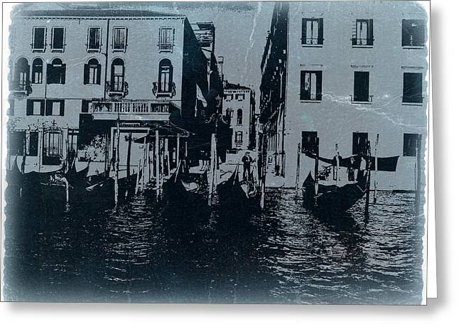 City Canal Greeting Cards - Venice Greeting Card by Naxart Studio