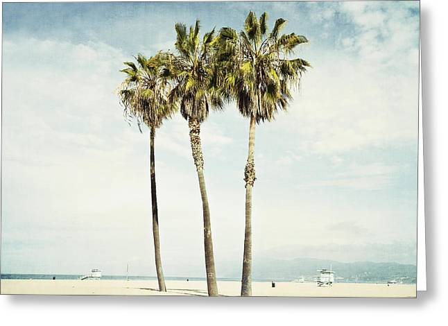 Venice Beach Palms Greeting Cards - Venice Palms  Greeting Card by Bree Madden