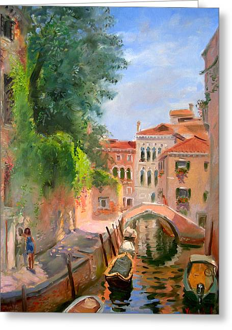 Venice Ponte Moro Greeting Card by Ylli Haruni