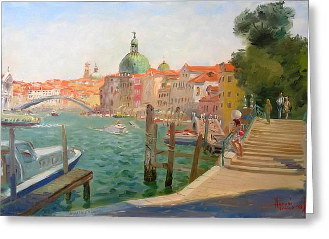 Italy Canal Greeting Cards - Venice Saniachiara Greeting Card by Ylli Haruni