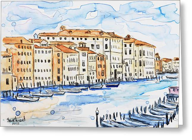 Venice Greeting Card by Shaina Stinard
