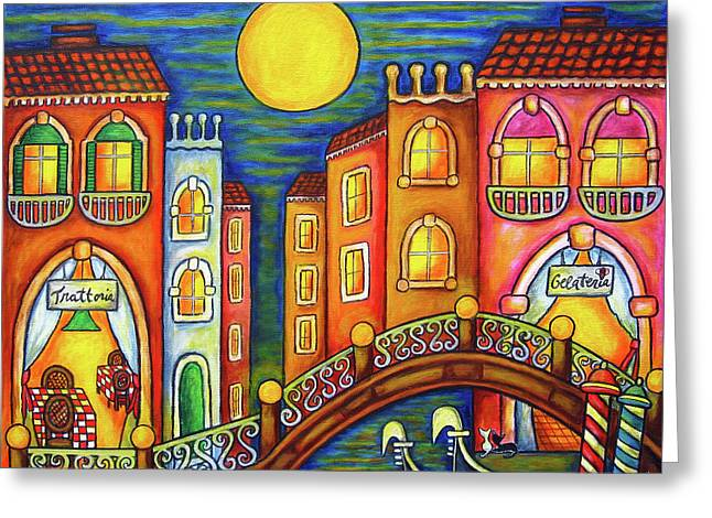 Trattoria Greeting Cards - Venice Soiree Greeting Card by Lisa  Lorenz