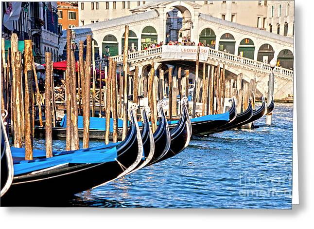 Venice Sunny Rialto Bridge Greeting Card by Heiko Koehrer-Wagner