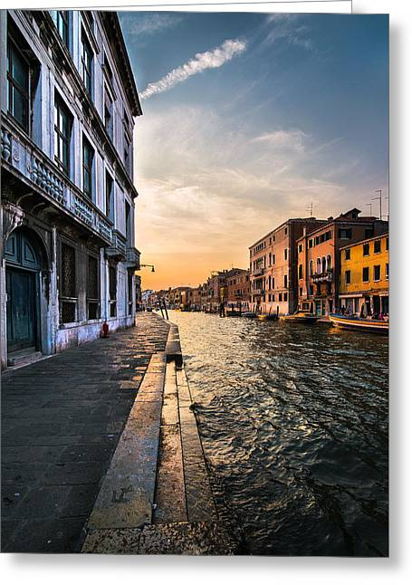 Venice Sunset Greeting Card by Ivan Vukelic