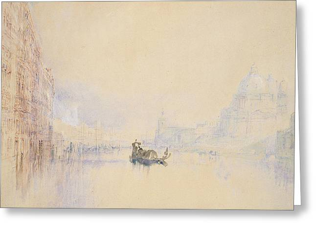 Venice  The Grand Canal Greeting Card by Joseph Mallord William Turner