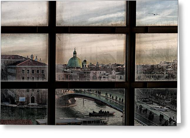 Venice Window Greeting Card by Roberto Marini