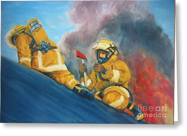 Danger Pastels Greeting Cards - Venting the Roof Greeting Card by John Malone