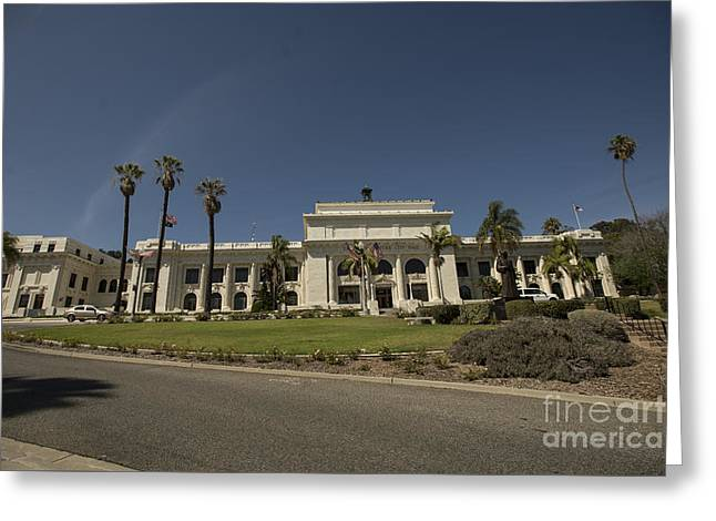Beach Greeting Cards - Ventura City Hall Greeting Card by David Bearden