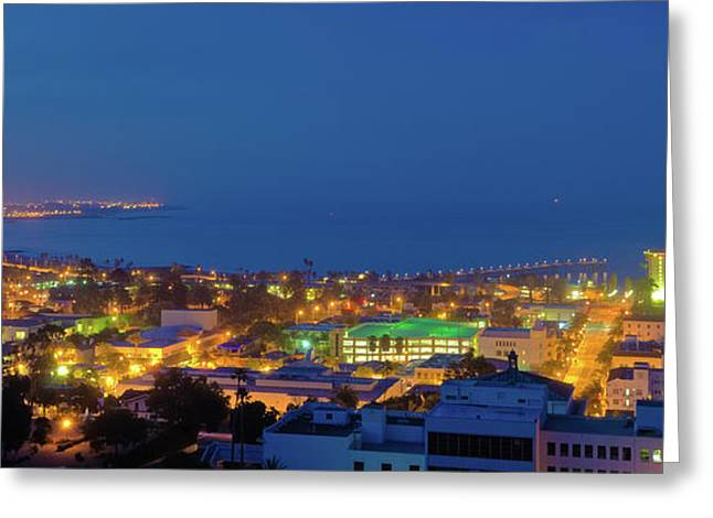 Ventura Harbor Before Sunrise Greeting Card by Connie Cooper-Edwards