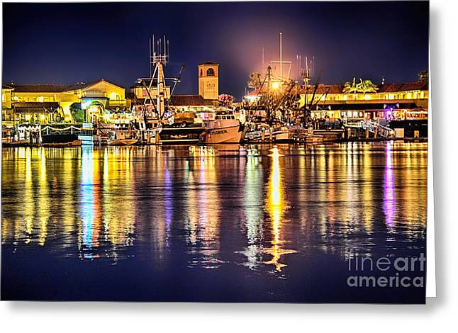 Ventura California Greeting Cards - Ventura Harbor Village Greeting Card by Mariola Bitner